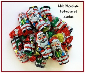 Wrapped Chocolate Santas