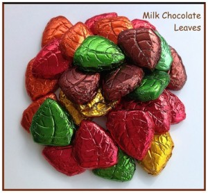 Milk Chocolate Foil Leaves