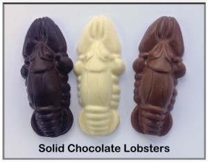 Small Chocolate Lobsters